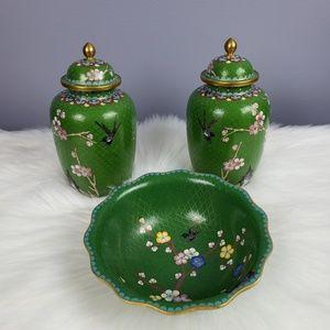 Cuan Cloisonne Ltd GingerJars & bowl
